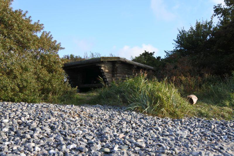 Unser einsames Häuschen am Strand